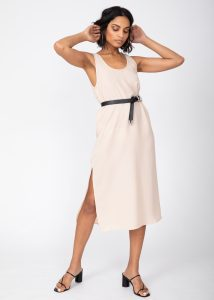 Midi Summer Tank Dress Neutral Cream