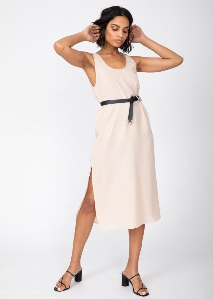 Midi Summer Tank Dress Neutral Cream