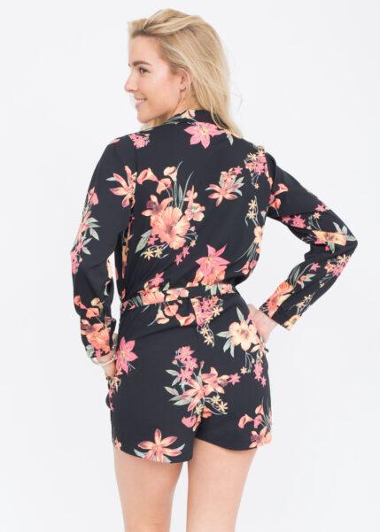Tropical Florals Shirt Playsuit