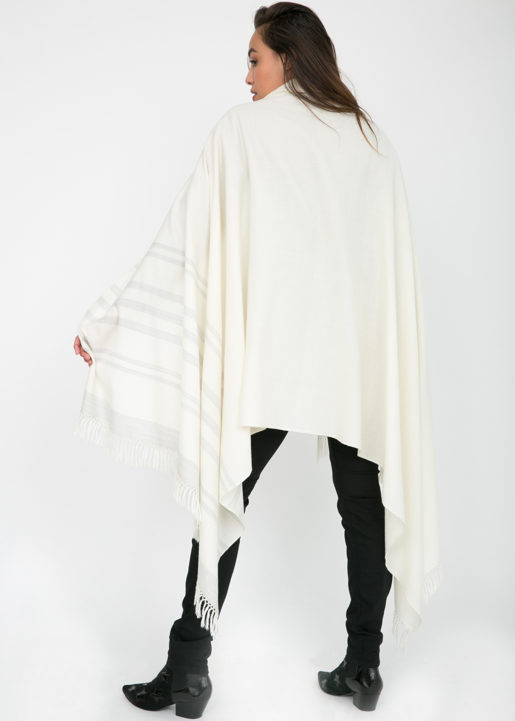 Handwoven Oversize Scarf in Camel Twill Mix Weave 100 X 200cm