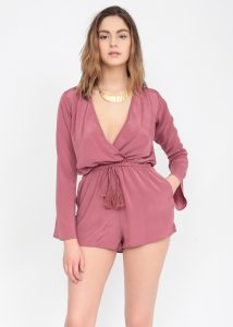 Vieux Rose Bell Sleeve Playsuit