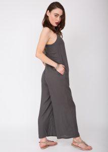 Wide Leg Adjustable Back Jumpsuit Grey
