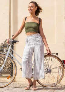 Culotte trouser bandeau top holiday wear for women